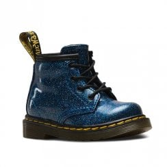 Dr Martens Infant 1460 Glitter Ankle Lace Up Boots - Blue