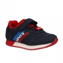 Levi's Kids Springfield Mini Velcro Trainer Shoes - Navy/Red
