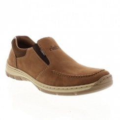 Rieker 15260-26 Men's Light Brown Slip On Casual Shoes