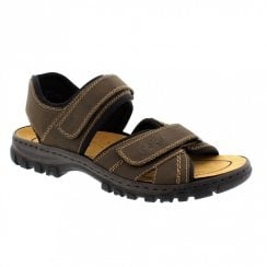 Rieker 25051-27 Men's Brown Casual Velcro Sandals
