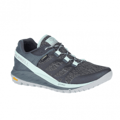 Merrell Women's ANTORA GTX Waterproof Hiking Shoes - Grey/Turquoise J53090