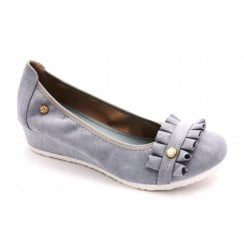 Zanni & Co Maysville Blue Wedge Shoe