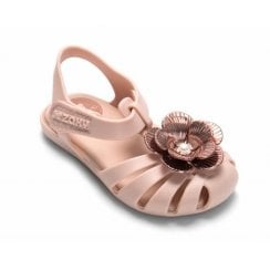Zaxy Girls Baby Flower Pearl Kids Sandals - Blush