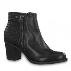 Tamaris Womens Black Mid Heeled Ankle Boots
