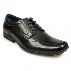 Pod Mens Boys Angus Black Leather Lace Up Smart School Shoes