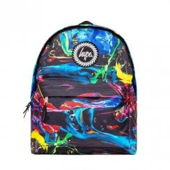 Hype Blue Multi Colour Run Backpack BTS19030