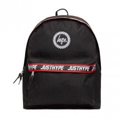 Hype Black Red Taping Backpack BTS19128