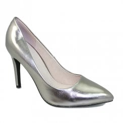 Lunar Womens FLC091 Powell II Court Shoes - Pewter Metallic