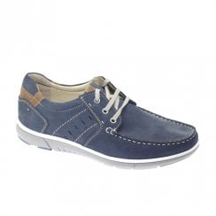 Dubarry Mens Bowie Lace Up Navy Leather Casual Shoes 4588