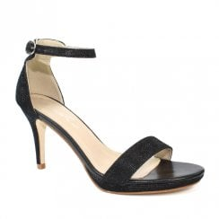 Lunar Perdita JLH127 Black Elegance Stiletto Heeled Sandals