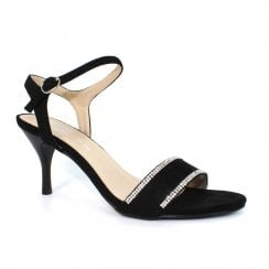 Lunar Sophia JLH125 Black Elegance Heeled Sandals