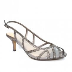 Lunar FLR540 Miley Pewter Mesh Elegance Heeled Sandals