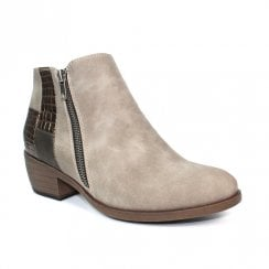 Lunar Ava Grey Fashion Ankle Boots