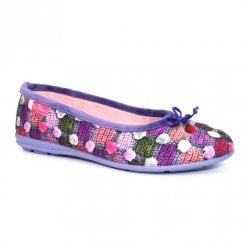 Lunar Womens Magic Pump Slippers KLA095 - Purple
