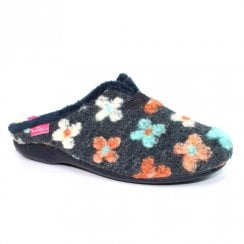 Lunar Womens Pansy Mule Slippers KLA114 - BLue