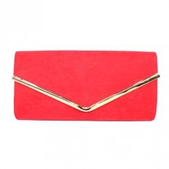 Lunar Womens Narla Clutch Handbag - Red