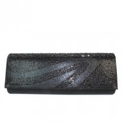 Lunar Womens Hally/Miley Clutch Handbag - Black