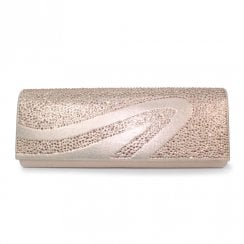 Lunar Womens Hally/Miley Clutch Handbag - Gold