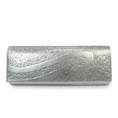 Lunar Womens Hally/Miley Clutch Handbag - Silver