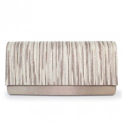 Lunar Womens Monty/Goldie Clutch Handbag - Taupe