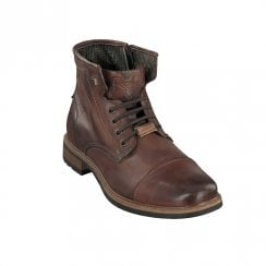 Bugatti Mens Classic Smart Lace Up Ankle Boots - Dark Brown