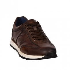 Bugatti Mens Brown Leather Casual Lace Up Shoes