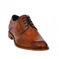 Bugatti Mens Cognac Leather Smart Lace Up Shoes