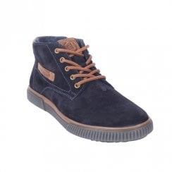 Bugatti Mens Dark Blue Suede Leather Casual Lace Up Ankle Shoes