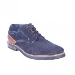Bugatti 31160935 Mens Dark Blue Leather Casual Lace Up Low Boots