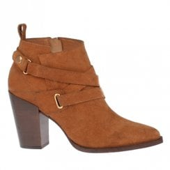Amy Huberman Moonlight Cinnamon Tan High Heeled Ankle Boots