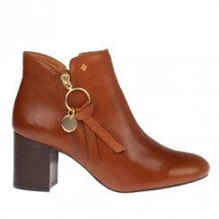 Amy Huberman True Romance Salted Warm Caramel Block Heel Ankle Boots
