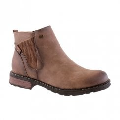 Susst Nolan-9 Brown Flat Chelsea Ankle Boots