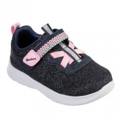 Skechers Kids Comfy Flex 2.0 Lucky Sparkles Sneakers - Navy