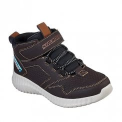 Skechers Kids 97895 Boys Ankle Sneakers Boots - Brown