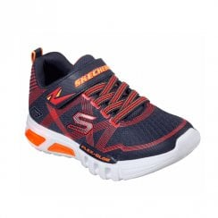 Skechers Kids S Lights: Flex-Glow Sneakers - Navy/Red