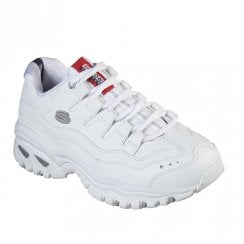 Skechers Womens Energy Smooth Leather Sneakers - White