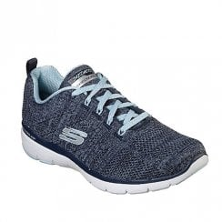 Skechers Womens Flex Appeal 3.0 High Tides Mesh Sneakers - Navy