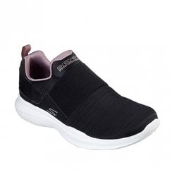 Skechers Womens GOrun Mojo Ensure Mesh Slip On Sneakers - Black