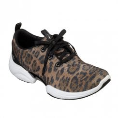 Skechers Womens Skech-Lab Sneakers - Brown Leopard