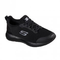Skechers Womens Work Squad SR Sneakers Black