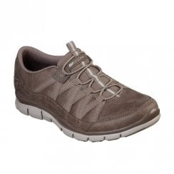 Skechers Womens Gratis Fine Taste Slip On Sneakers - Taupe