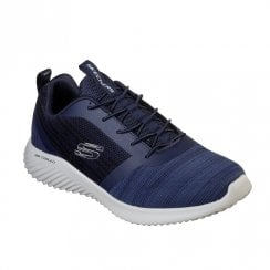 Skechers Mens Bounder Mesh Sneakers - Navy