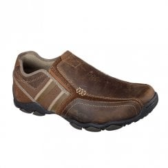 Skechers Mens Diameter Zinroy Slip On Sneakers Shoes - Brown