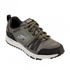 Skechers Mens Escape Plan Lace Up Sneakers Shoes - Olive