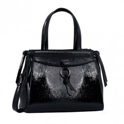 Gabor Ladies Francesca Shopper Bag 8365 - Black Patent
