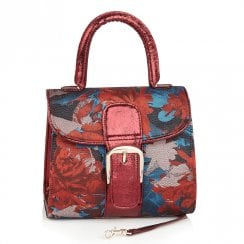 Ruby Shoo Riva Red Russt Rigid Handle Bag
