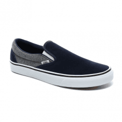 Vans Mens Suede Classic Slip-On Dress Blues Trainers