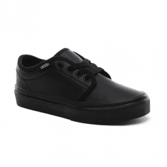 Vans Kids Classic Tumble 106 Vulcanized Black Leather Shoes