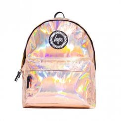 Hype Girls Holographic Backpack - Rose Gold