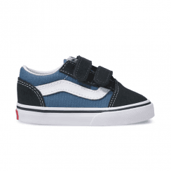 Vans Kids Toddler Old Skool Velcro Shoes - Navy